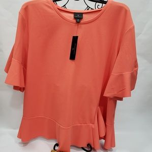 Worthington - women blouse, hot coral